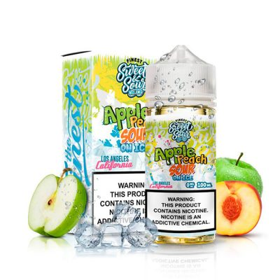 APPLE PEACH SOUR RINGS EN ICE 100ml